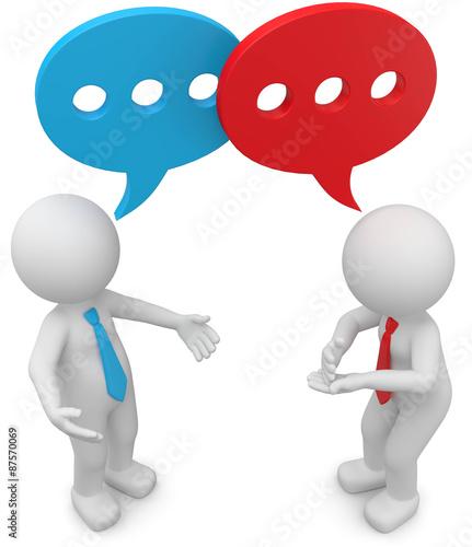 3d Männchen Gespräch Stock-Illustration | Adobe Stock
