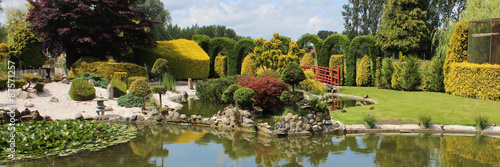 Jardin paysager japonisant