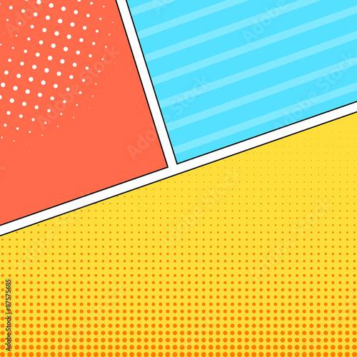 Fotografía  Comic style frames background