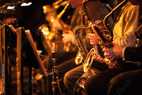 Fotografia Big Band saxophone section