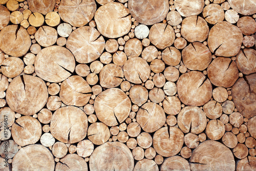Wall Murals Firewood texture Pile of wood logs