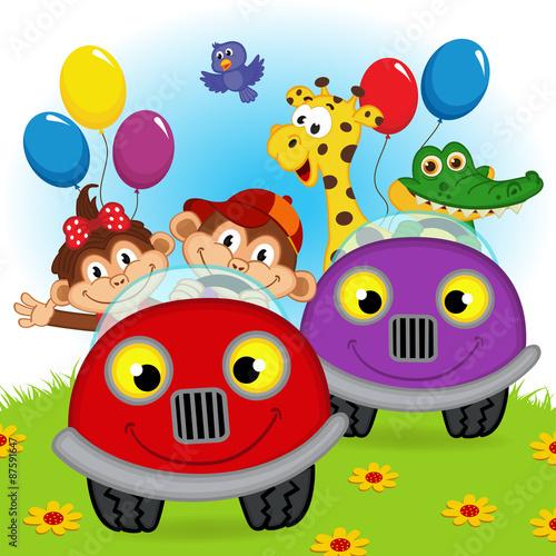 zwierzeta-podrozujace-w-samochodach-wektorowa-ilustracja-eps