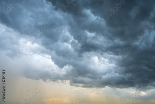 Foto op Canvas Hemel dark clouds background