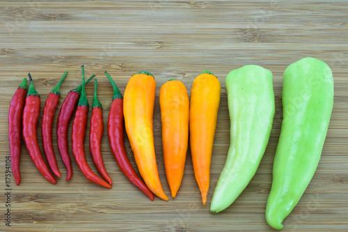 Fotografie, Obraz  Variety of Chili Peppers