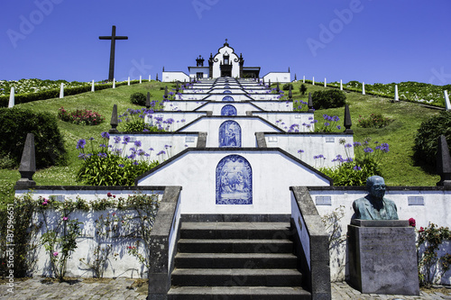 Poster Monument Our Lady of peace monument, Azores