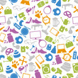 shop department simple vectors icons seamless pattern eps10