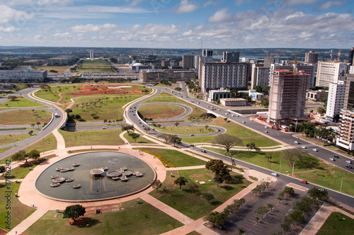 Aerial View of Pilot Plan of Brasilia City