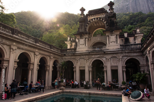 Photo  Courtyard of the Mansion of Parque Lage in Rio de Janeiro