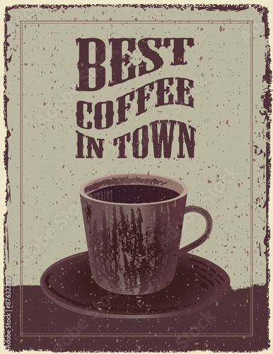 Retro-Vintage Coffee Poster Wallpaper Mural