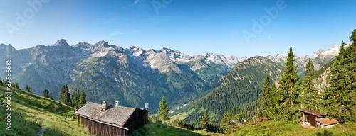 Kolory fototapet sceniczna-wysokogorska-panorama-blisko-hochvogel-niemcy