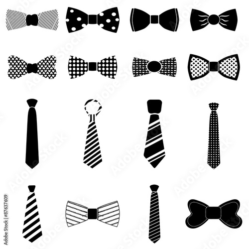 Canvastavla Bow tie icons set