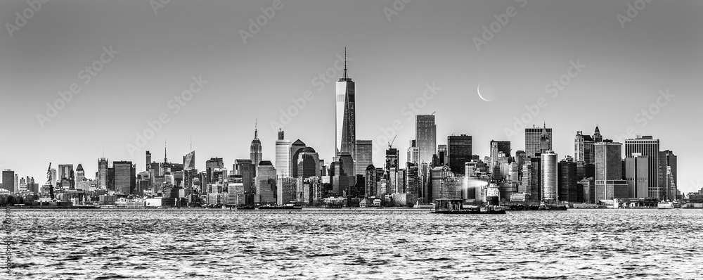 Fototapety, obrazy: New York City Manhattan downtown skyline