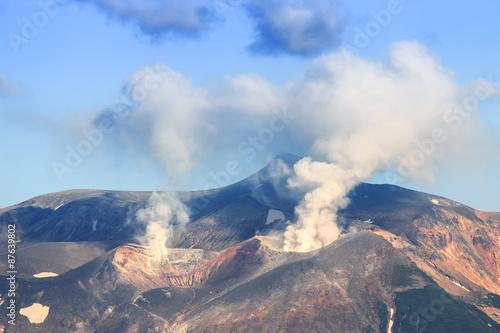 In de dag Vulkaan Volcano in Japan, Hokkaido