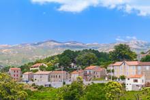 Aullene Village, Corsica, France. Rural Landscape