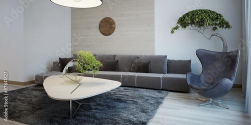Fényképezés  Minimalist design of sitting room