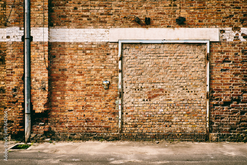 Staande foto Industrial geb. Abandoned wall