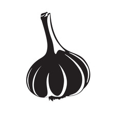 Graphic Garlic Silhouette