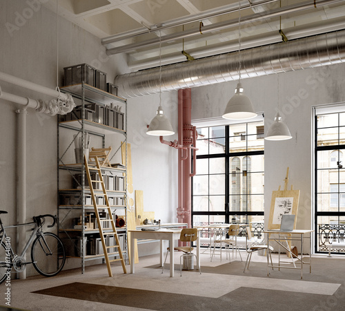 Werkstatt in altem Industrie Loft - workshop in old industrial L