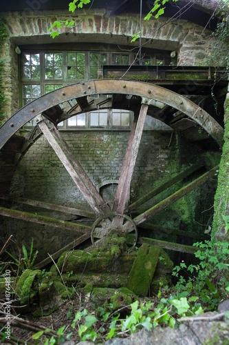 Aluminium Prints Mills Water wheel at Cockington
