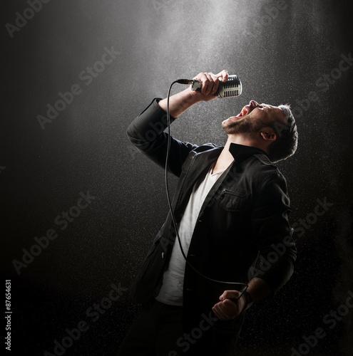 Male Singer performing