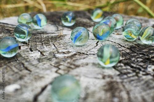 Fotografie, Obraz  Glass marbles