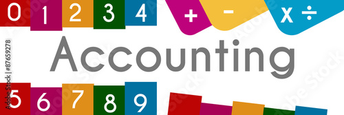 Accounting Colorful Background  - 87659278