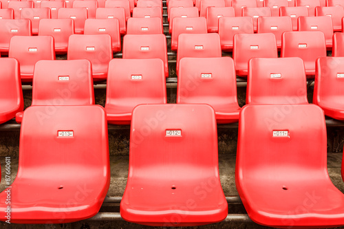 Tuinposter Stadion Empty seats at the Stadium