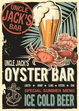 Uncle Jacks Raw Fish Bar Poster.