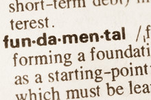 Dictionary Definition Of Word Fundamental