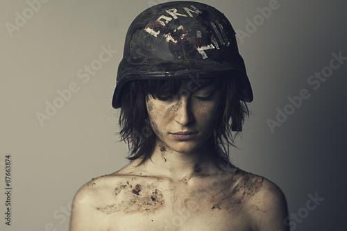 Photo soldatessa