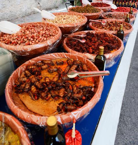 Fotografie, Obraz  Market in Luino, Lake Maggiore, Italy