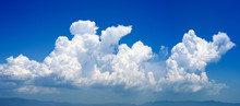 Cumulonimbus Cloud In A Deep Blue Sky