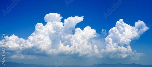 Canvas Prints Heaven cumulonimbus cloud in a deep blue sky