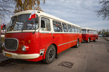 The Historic Bus With Trailer