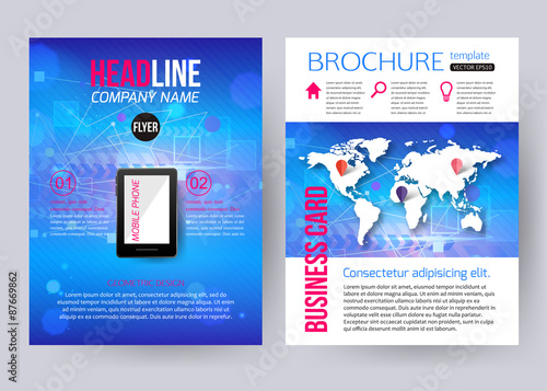 corporate brochure business geometric design templates with buy