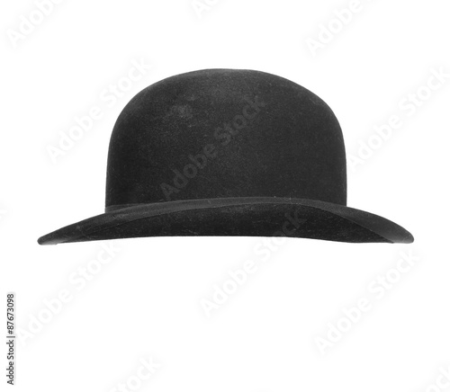 ba6c615fb20 Black bowler hat isolated on white background. - Buy this stock ...