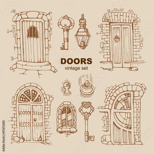 Poster de jardin Oiseaux en cage ancient doors
