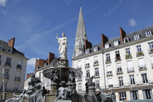 Foto op Canvas Fontaine Nantes - Fontaine Place royale