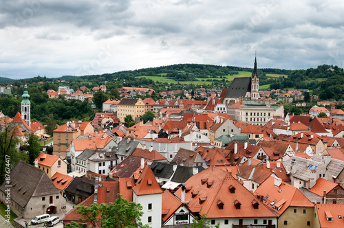 City View Of Cesky Krumlov Czech Republic