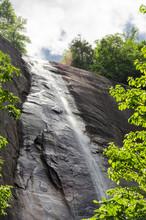 Hickory Nut Falls In Chimney Rock State Park, North Carolina, United States