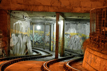 Graffiti In Train Tunnel