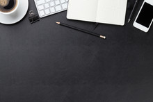 Office Leather Desk With Compu...
