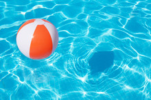 Colorful Beach Ball Floating I...