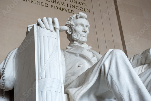 Photographie  Statue d'Abraham Lincoln, Lincoln Memorial, Washington DC