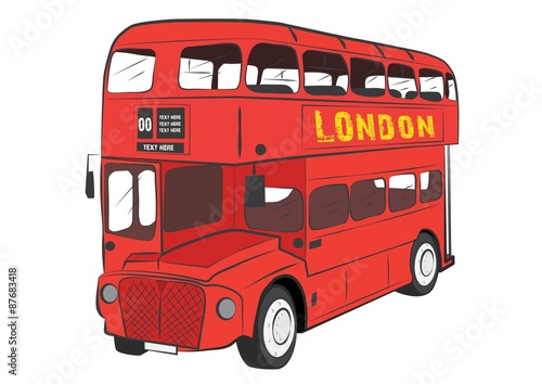 Photo  LONDON BUS VECTOR