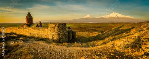 Photographer before Ararat mountain Wallpaper Mural