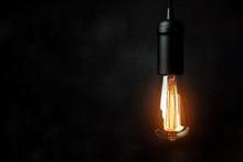 Vintage Light Bulb Background