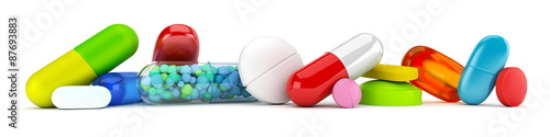 Fotografia  Collection of colorful pills