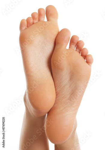 Fotografie, Obraz  Jediný ženského foot.Isolated