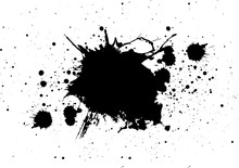 Abstract Splatter Color Black ...
